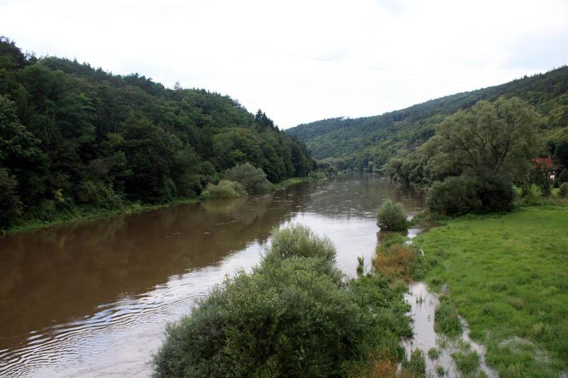 Řeka Berounka srpen 2010