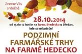 Podzimní farmářské trhy na farmě Hedecko