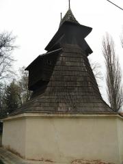Dřevěná zvonice na rakovnickém hřbitově