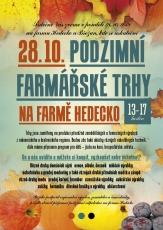 Podzimní farmářské trhy 2019 na farmě Hedecko